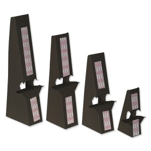 7 inch Black Self Stick, Double Winged Easel Backs