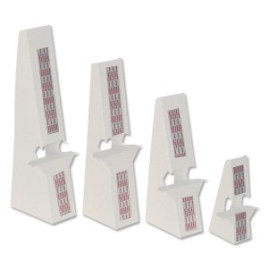 7 inch White Self Stick, Double Winged Easel Backs