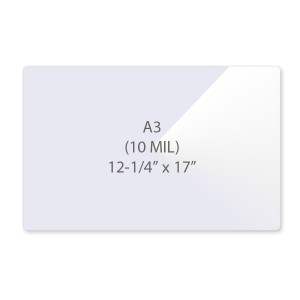 10 Mil A3 Laminating Pouches