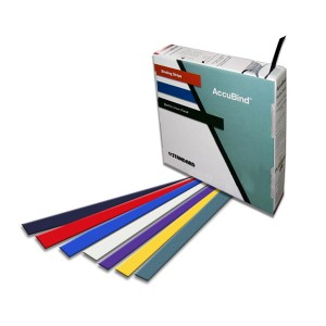 AccuBind Pro Binding Strips - Standard Size D – 1.375 inch by 11 inch