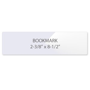 5 Mil Bookmark Laminating Pouches