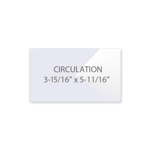 5 Mil Circulation Card Laminating Pouches