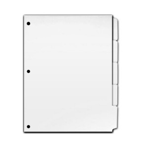 Copier Tabs - Single - Reverse Collated - 3 Hole Punched