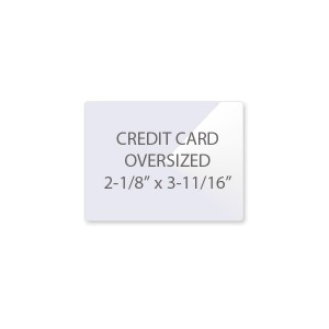 10 Mil Credit Card Laminating Pouches - OverSized