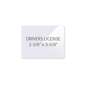 5 Mil Drivers License Laminating Pouches