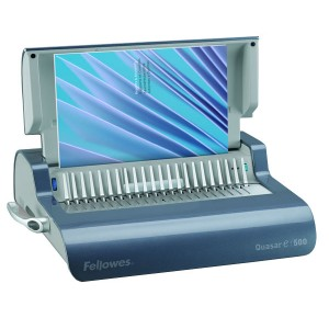 Fellowes Quasar E Electric Punch Plastic Comb Binding Machine