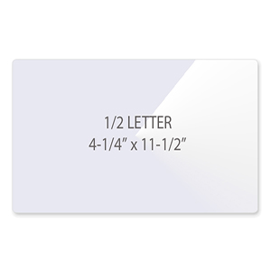 1/2 Letter Vertical Laminating Pouches - Flap on Short Side