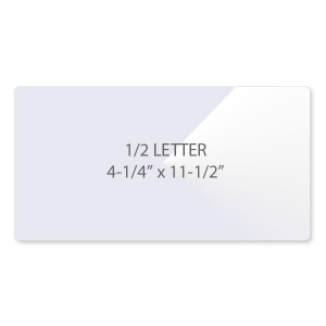 5 Mil 1/2 Letter Vertical Laminating Pouches - Flap on Short Side