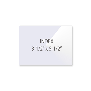 Index (File Card) Laminating Pouches