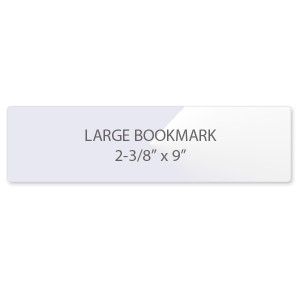 7 Mil Bookmark Laminating Pouches - Large