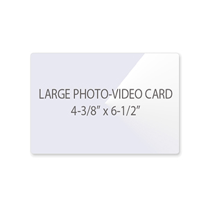 Large Photo - Video Card Laminating Pouches