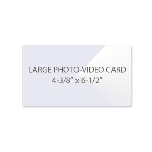 10 Mil Large Photo - Video Card Laminating Pouches