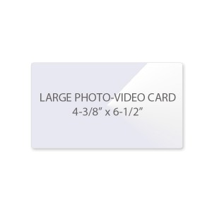 5 Mil Large Photo - Video Card Laminating Pouches