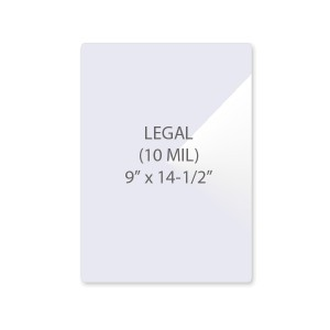 10 Mil Legal Size Laminating Pouches
