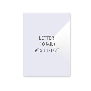 10 Mil Letter Size Laminating Pouches