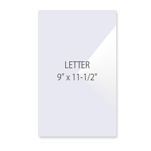 Letter Size Laminating Pouches