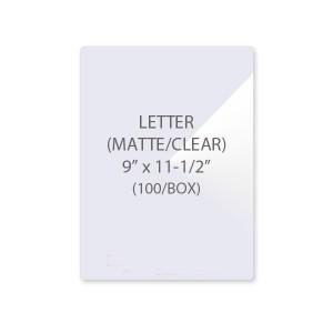 5 Mil Letter Size Laminating Pouches Matte/Clear