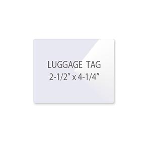 Luggage Tag Laminating Pouches (NO Slot)