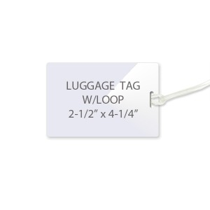10 Mil Luggage Tag Laminating Pouches w/ Loops (Slot  On Short Side)