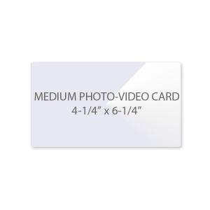 3 Mil Medium Photo - Video Card Laminating Pouches