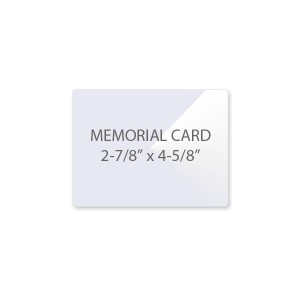 10 Mil Memorial Card Laminating Pouches