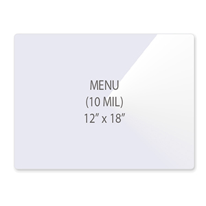 Menu Size Laminating Pouches