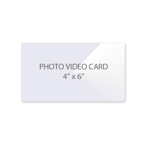 10 Mil Photo - Video Card Laminating Pouches