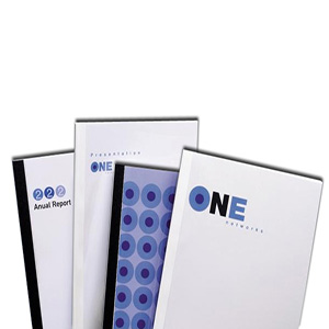 Premium Thermal Binding Report Covers 0.75 inch Clear Front Cover Regency Leatherette Back Cover