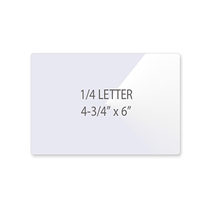 1/4 Letter Laminating Pouches