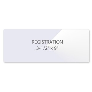 10 Mil Registration Laminating Pouches