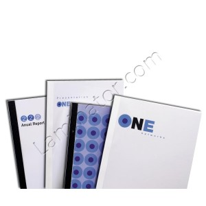 Thermal Binding Report Covers 0.25 inch Clear Front Cover Linen Back Cover