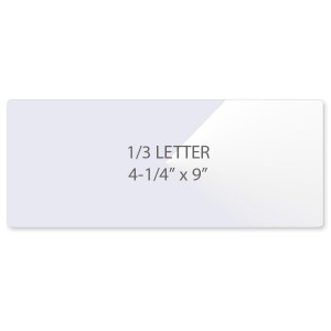 10 Mil 1/3 Letter Laminating Pouches
