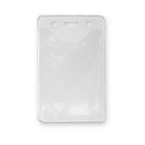 Vertical Badge Holder with Slot & Chain Holes - Top Load - Credit Card / IBM Card Size