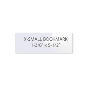 5 Mil Bookmark Laminating Pouches - Extra Small