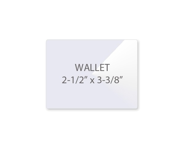 5 mil wallet size laminating pouches size 2 1 2 x 3 3 8
