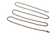 30 inch Silver Colored Beaded Metal Neck Chain