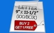 3 Mil Letter Size Laminating Pouches