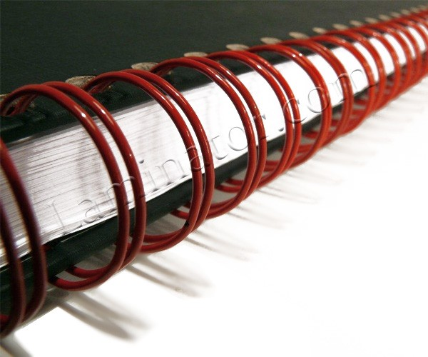 Twin loop wire binding spines 1 2 1 pitch for Loop binden