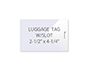Luggage Tag Laminating Pouches (WITH Slot - On Short Side)