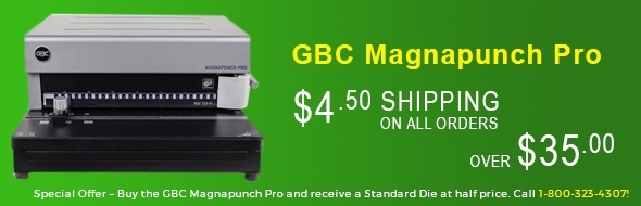 Binding Machine, GBC Magnapuch pro, Supply and Cover Shipping Promotion